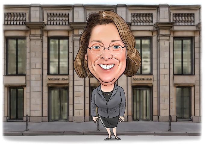 Karikatur vom Foto, Arbeit, Beruf, Banker