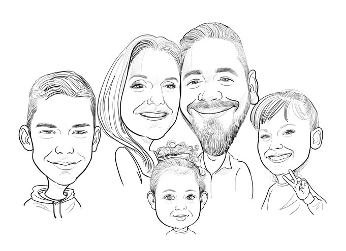 Gruppen Karikatur, Familie