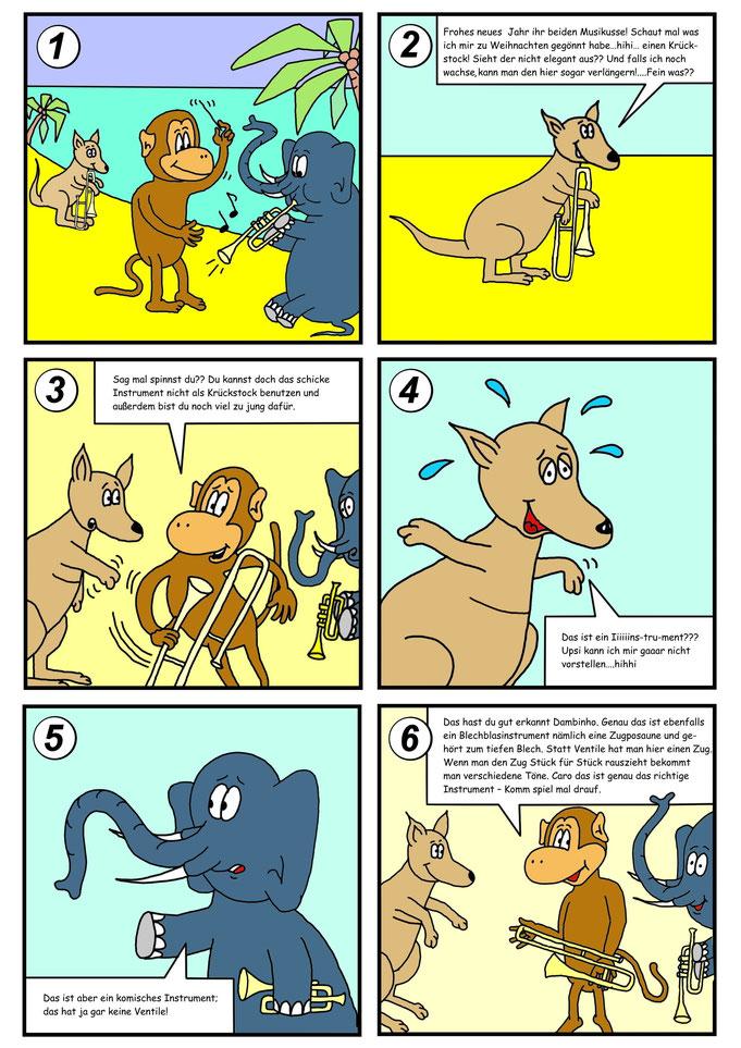 Comic Känguru, Tiere