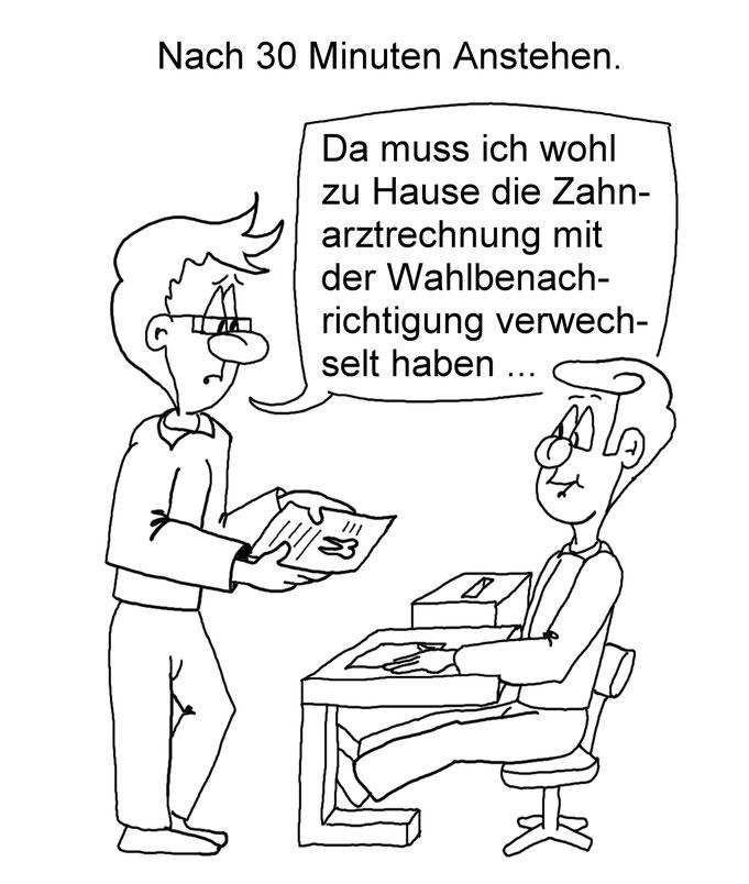 Karikatur Wahl
