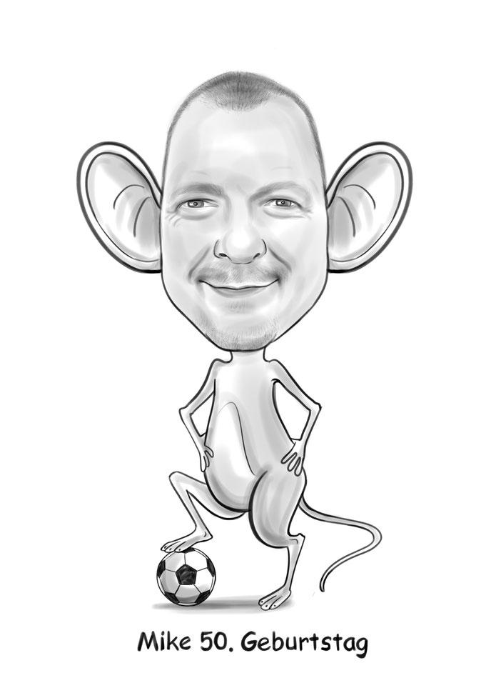 Karikatur vom Foto, Maus