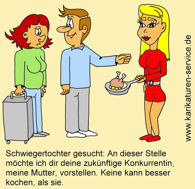 Karikatur Schwiegertochter gesucht
