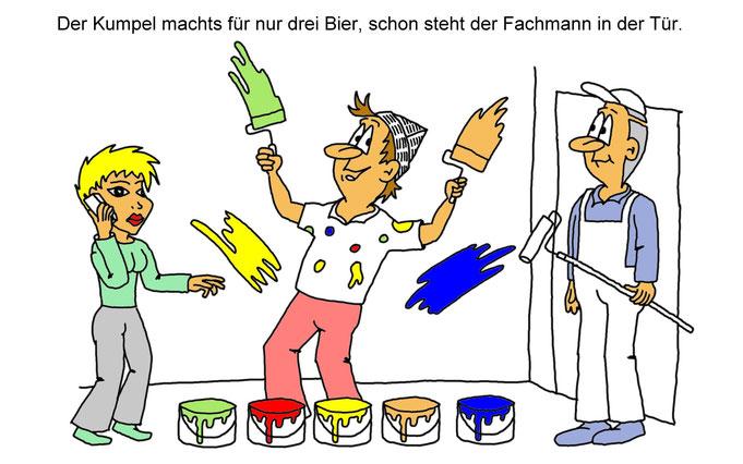 Karikatur Maler