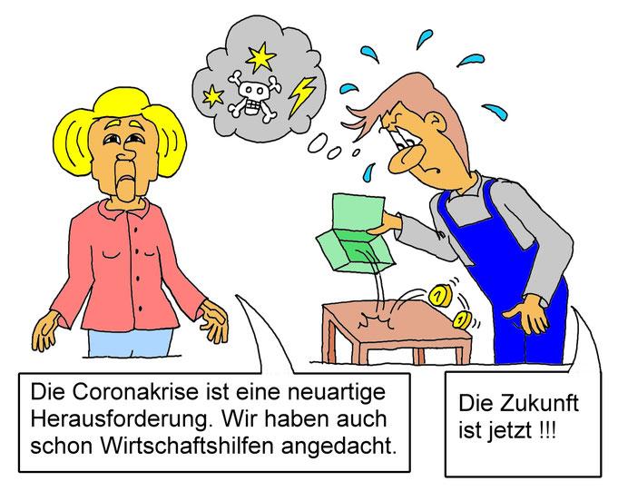 Karikatur Rezession, Wirtschaftskrise
