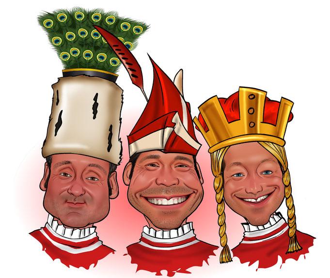 Karikatur Karneval, Fasching