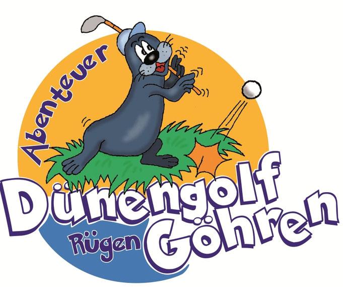 Karikatur Logo, Golf spielen