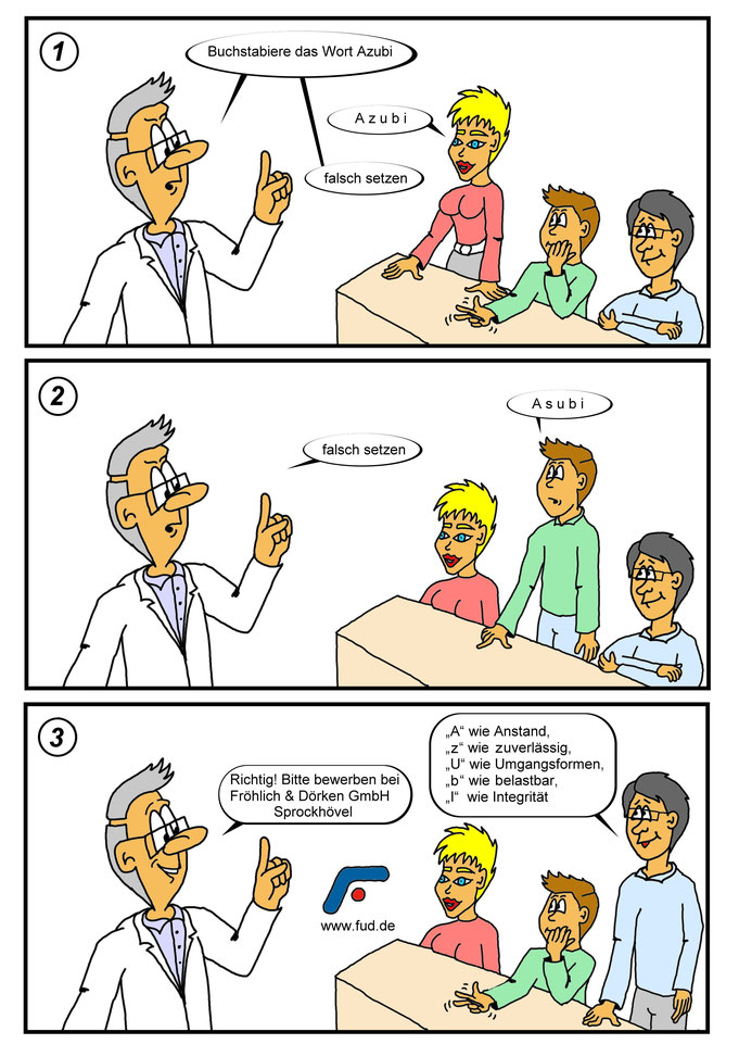 Cartoon erstellen lassen, Azubi