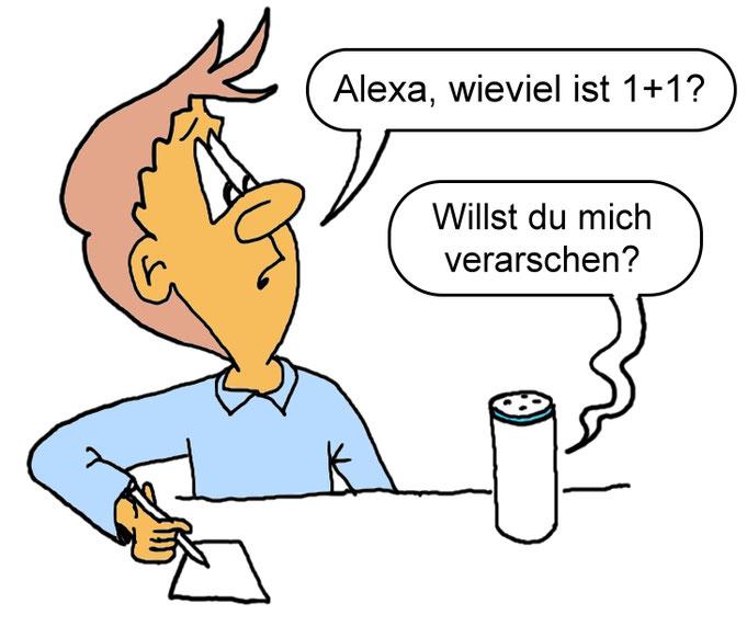 Karikatur Alexa