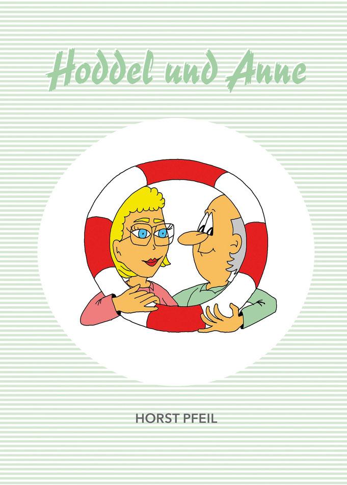 Cartoon, Illustration für Buchcover
