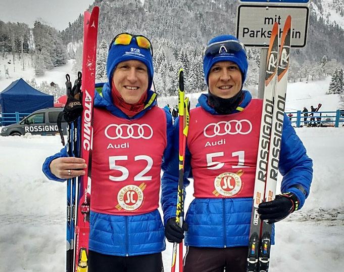 Robert (re.) und Steffen beim NORDIC RACE OBERSTDORF für das Team Weihenstephan