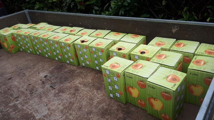 ...gekeltert am 26. September in der Kelterhalle des Obst- und Gartenbauvereins e.V. Mammolshain  ! Wir bedanken uns !