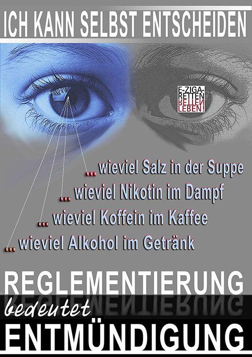 ... mein kreiertes Plakat zur IG-ED-Kundgebung am 3. 10. 2015 während der Dampfermesse in Oberhausen