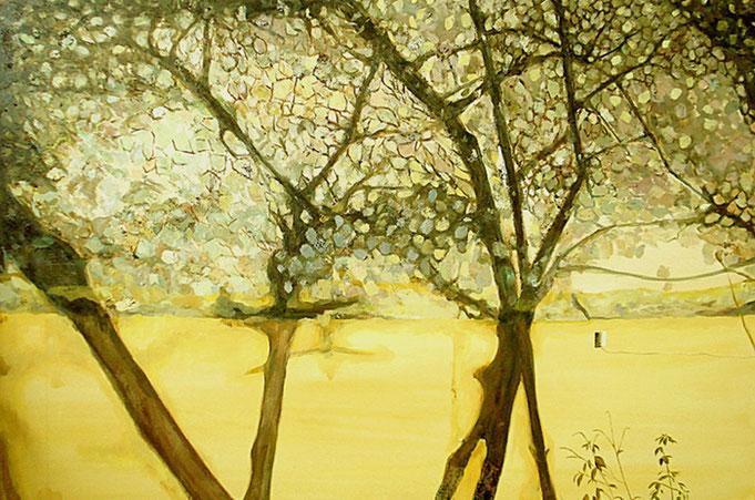 "Wall Yellow (Mexico-Chichen Itza) 48""x72""/ 黄墙(墨西哥),122x183cm, 2008"