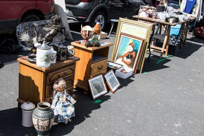 Flohmarkt, Normandie, Urlaub mit Hund