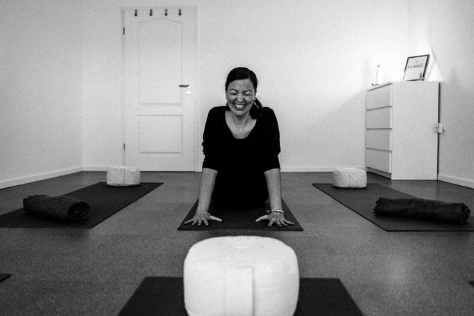 Inhaberin und Yogalehrerin Denise Kirchberg