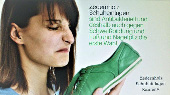 Zedernholz Schuheinlagen sind das Ideale gegen Schweißfüße, Fußpilz und Nagelpilz