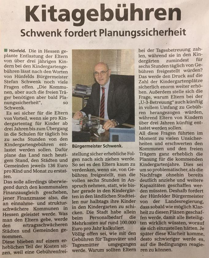 Presseartikel aus der Fulda Aktuell vom 11.03.2018