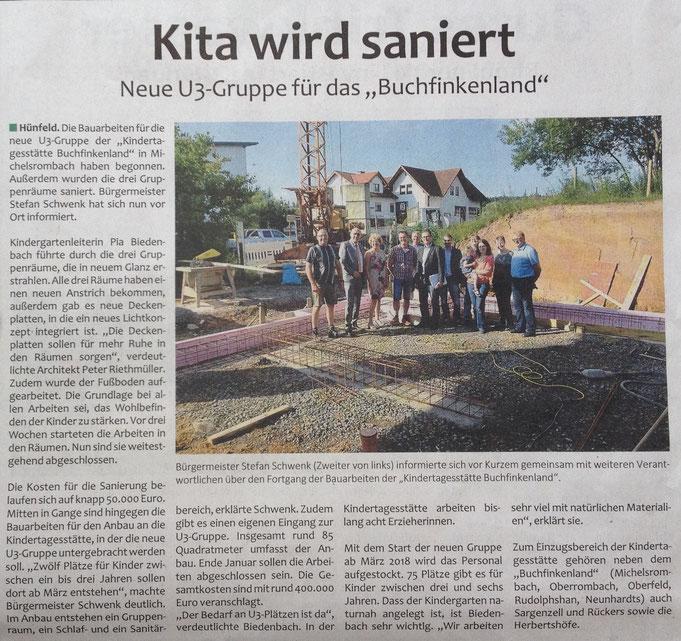 Presseartikel aus der Fulda Aktuell vom 12./13.08.2017