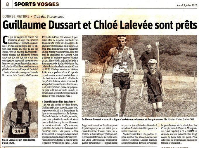 Article de la course 2018