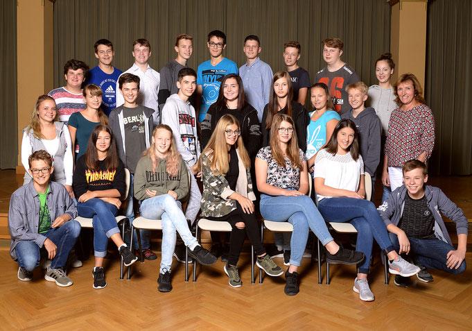 Klasse 9a - Klassenlehrerin Frau Roßbach