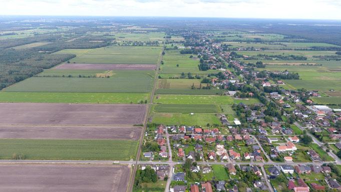 Die Trasse der Mühlenbahn in Richtung Norden