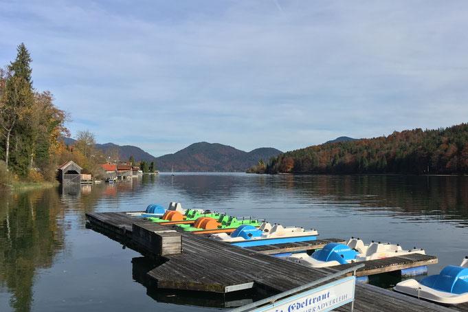 Tretboote auf dem Walchensee (Deutschland), Leinen los und in die Pedale!
