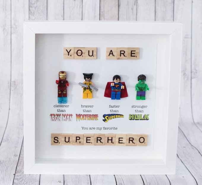 Picture frames for big and little heroes - prettylovelystuffs Webseite!