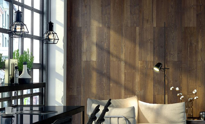 Wandverkleidung aus Holz - WoW Wandpaneele Altholz