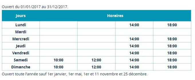 Horaires Musée des Beaux Arts et d'Archéologie Chalons en Champagne