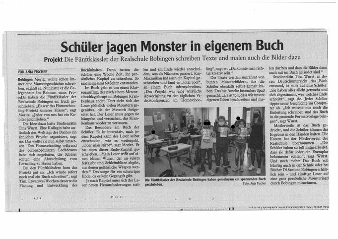 Zeitungsbericht von Anja Fischer - Augsburg Allgemeine