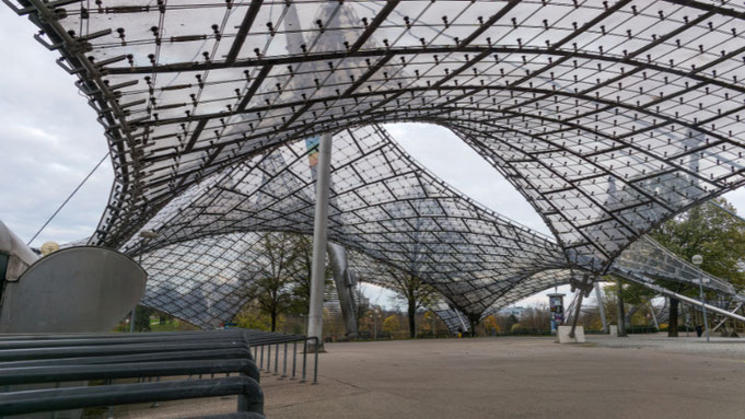Olympiagelände München, Zeltdach,