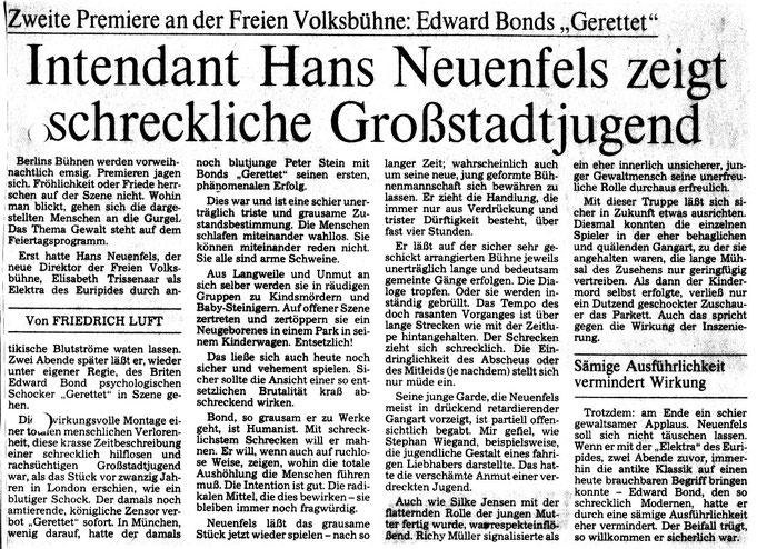 Berliner Morgenpost Kritik 1986