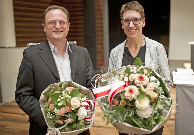 Sie leiten in den nächsten zwei Jahren den Zofinger Einwohnerrat –Barbara Willisegger (SVP) als Präsidentin und Christian Nöthiger (SP) als Vizepräsident. (bkr)