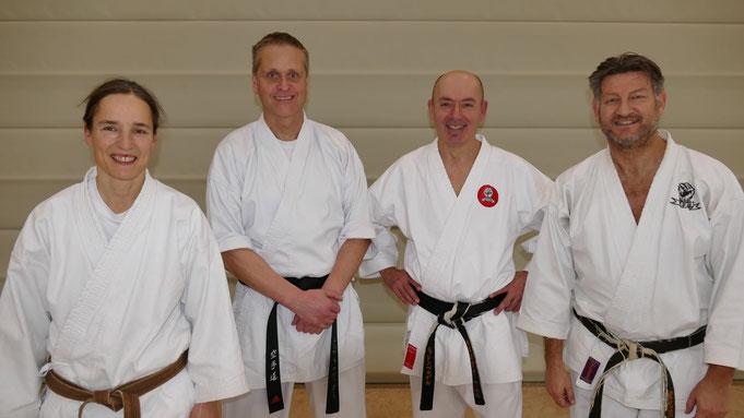 Regine, Jürgen, Christian und Andi (von links nach rechts)