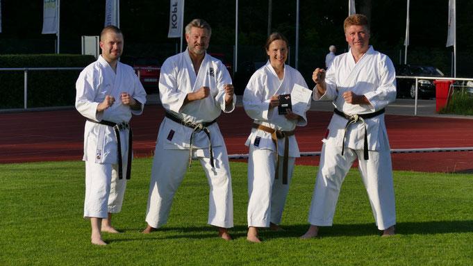4 unserer 5 Trainer: Marcus, Andi, Regine und Micha (von links nach rechts)