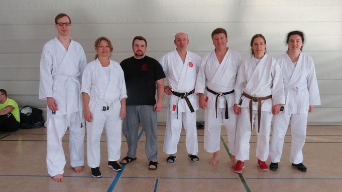 Unsere Lehrgangsteilnehmer mit Christian Schollenberger in der Mitte