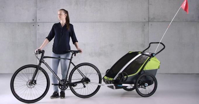 електрическо колело, спортни ремаркета Thule