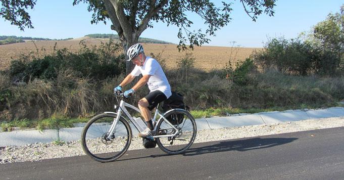 електрически велосипед, пътешествие