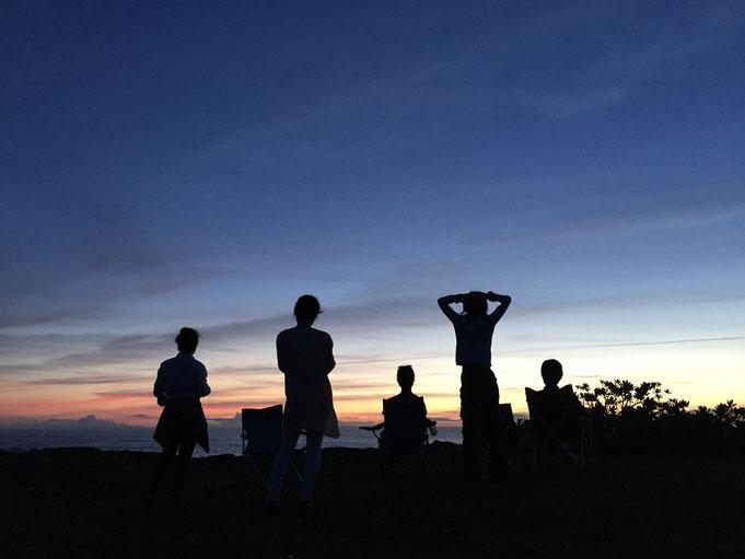 リハーサルの合間 つかの間の休息 @荒木の海