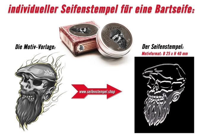Seifenstempel, Seifenstempel eigenem Logo, individueller Seifenstempel