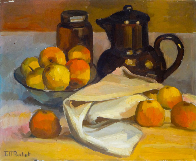 A still life where Tell Rochat has probably reached the peak of his art