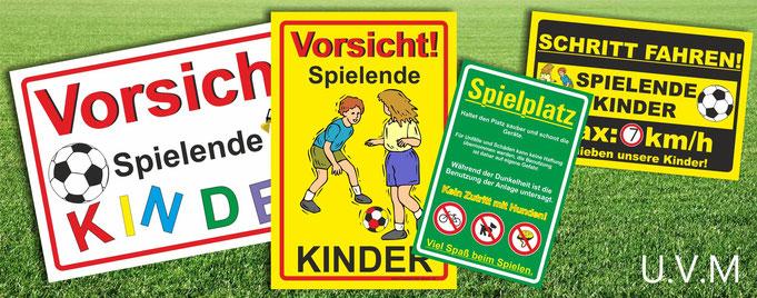 Achtung Spielende Kinder Schilder