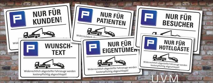 Parkplatz Nur für Kunden Schild Schilder