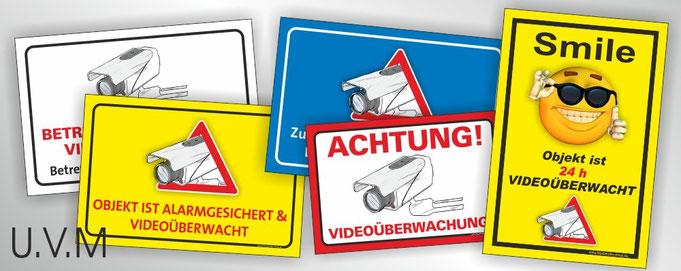 Videoüberwachung Videoüberwacht Schild