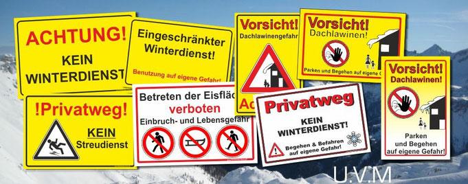 kein Winterdienst Schild Schilder