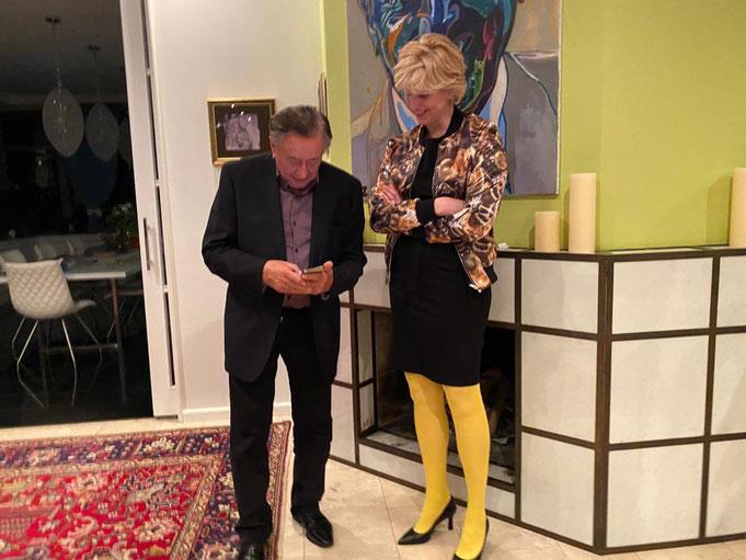 Barbara Ungepflegt in Verhandlungen mit Richard Lugner (Foto: Elsbeth Wallnöfer, März 2021)