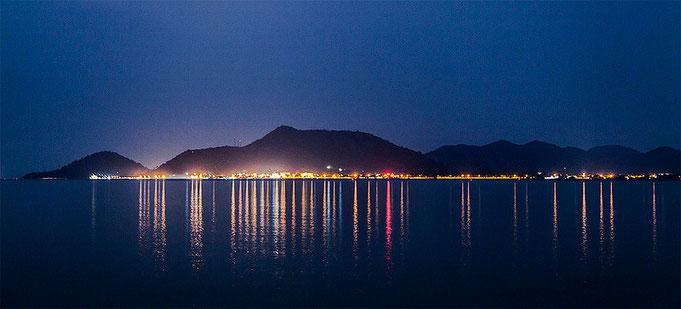 Kep de noche, vista desde Rabbit Island.