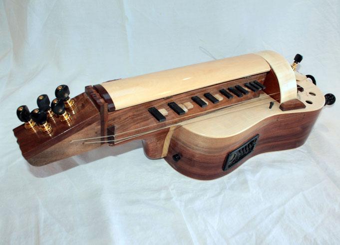 """Vielle """"Rustica"""" - Electro-acoustique - Fabriquée aux outils à mains par Mil Marie Mougenot"""