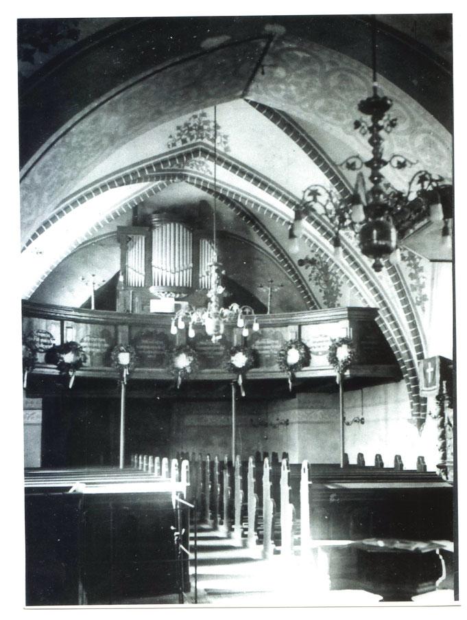 Birkholz (Stadt Bernau), ev. Dorfkirche: Orgel von 1712, Erbauer unbekannt