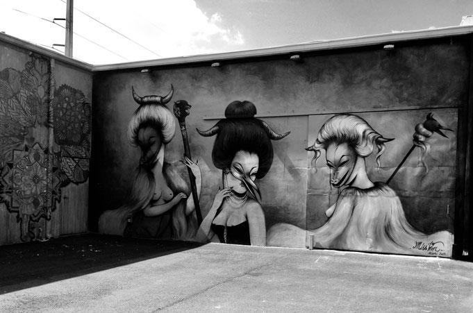 Grafitti von Miami Florida, aufgenommen als das Yogamami das allererste Mal schwanger war